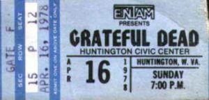 The Grateful Dead - live at Huntington Civic Centre
